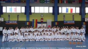 JKA ROMANIA 2014-MASAO KAWASOE SENSEI-II-GASSHUKU