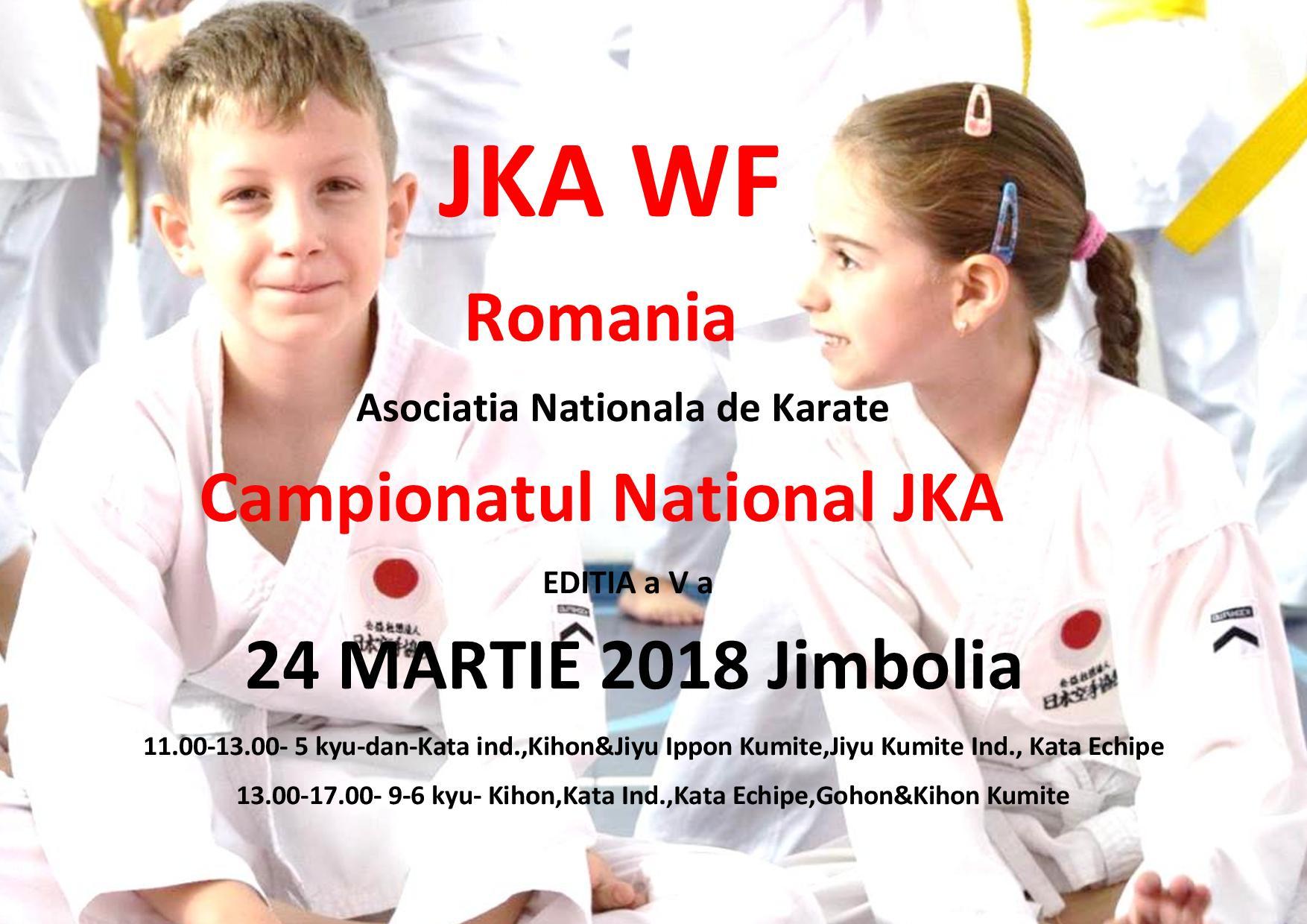 JKA WF Romania-Campionatul National 2018-Editia a V a