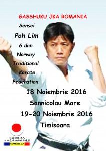 JKA Romania 2016-Gasshuku Sensei Poh Lim 6 dan
