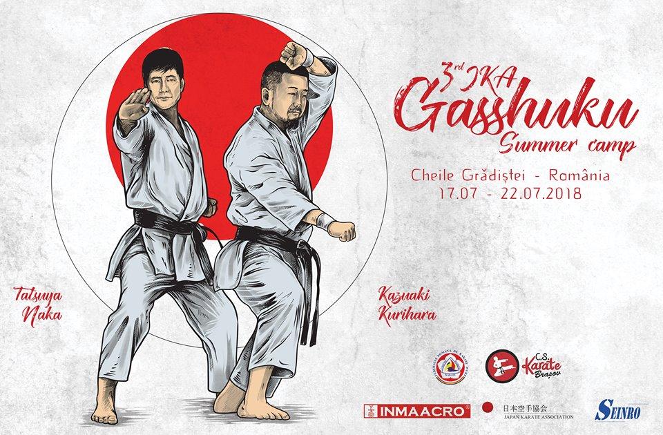 3rd JKA Gasshuku Naka Tatsuya Sensei&Kurihara Kazuaki Sensei 17-22 iulie 2018 Brasov