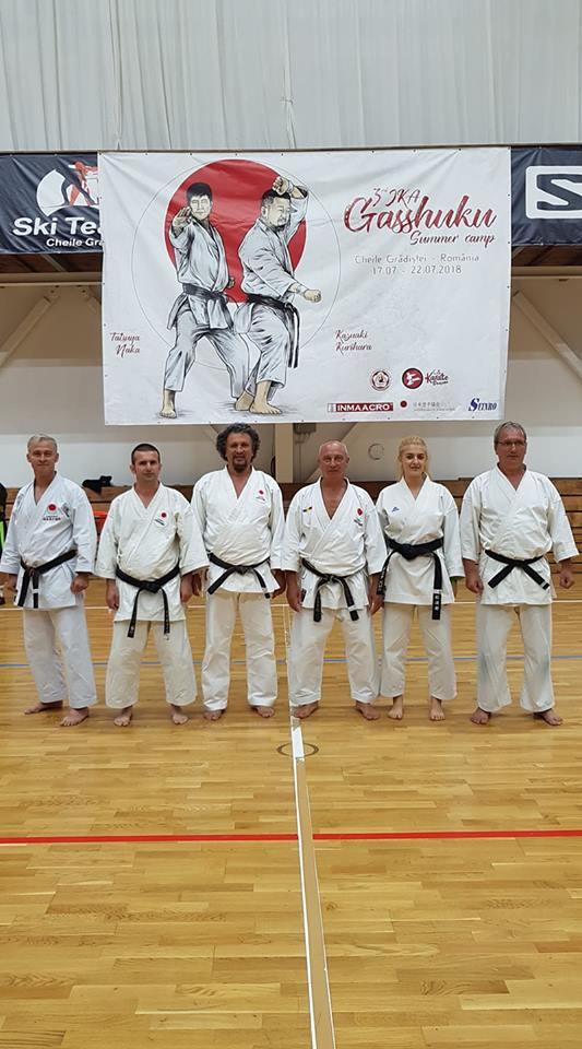JKA Gasshuku Naka Sensei&Kurihara Sensei Brasov Cheile Gradistei Romania 17-22 IULIE 2018