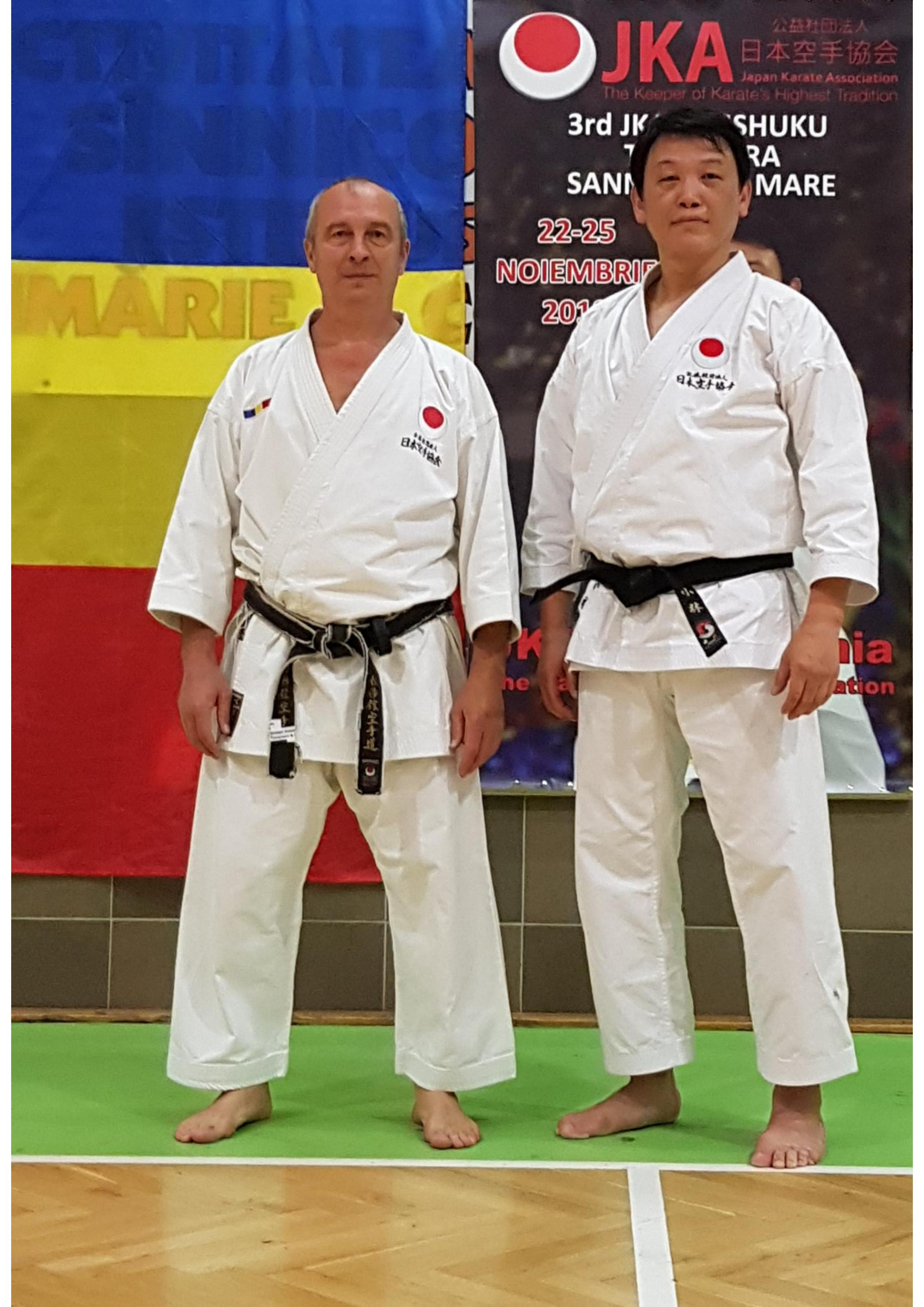 JKA Gasshuku Kunio Kobayashi Sensei 7 dan JKA-22-25 Noiembrie 2018-Timisoara&Sannicolau Mare